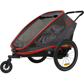 Hamax Outback Rimorchio bici, red/charcoal